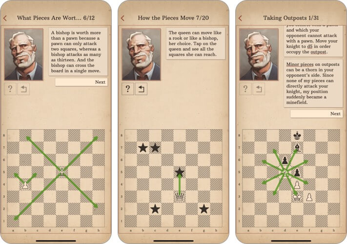 learn chess with dr wolf iphone and ipad game screenshot