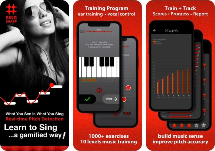 learn to sing iphone and ipad app screenshot