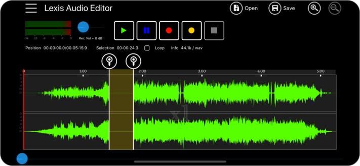 Lexis Audio Editor iPhone and iPad App Screenshot