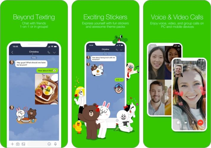 Line iPhone App Screenshot