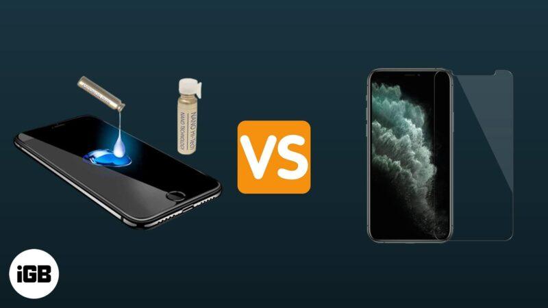 liquid screen protector vs tempered glass