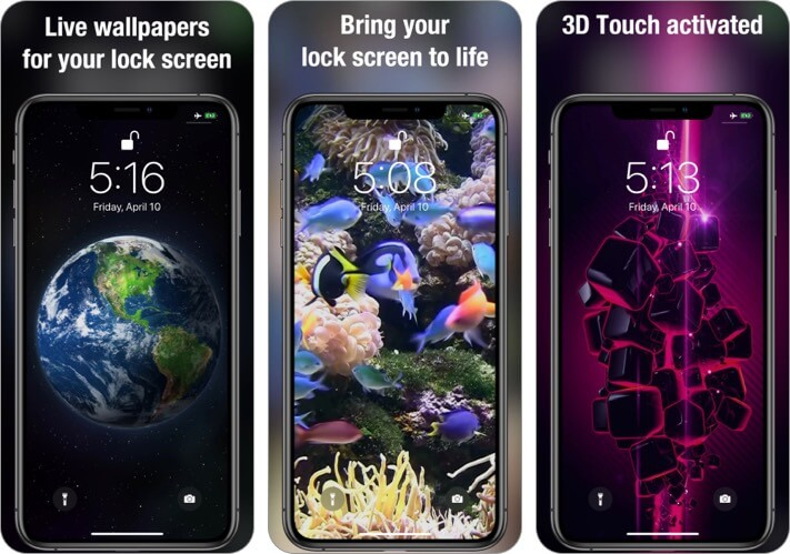 Live Wallpapers iPhone and iPad App Screenshot