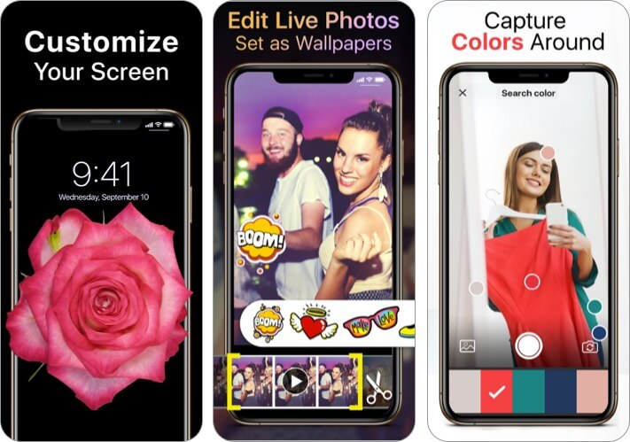 Live Wallpapers Now app for iPhone