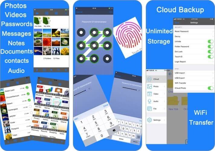 lock photos secret photo vault iphone app screenshot