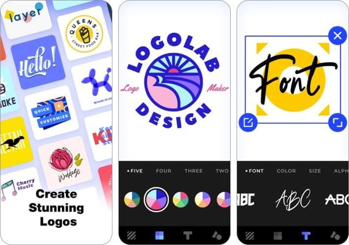logo creator iphone and ipad app screenshot