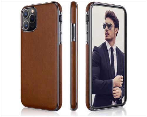 lohasic slim leather case for iphone 11 pro
