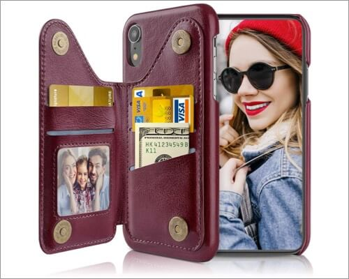 lohasic wallet case for iphone xr