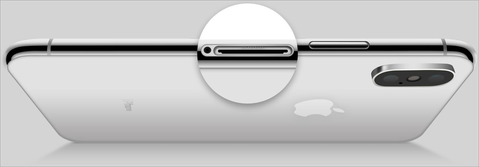Look Inside Sim Slot of iPhone
