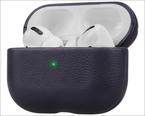 lopie genuine leather case for airpods pro