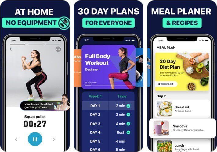 lose weight at home in 30 days iphone and ipad app screenshot