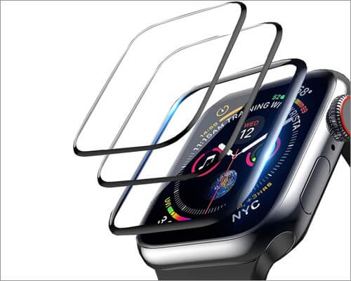 loza ultra hd flexible film protector for apple watch series 6 and 5