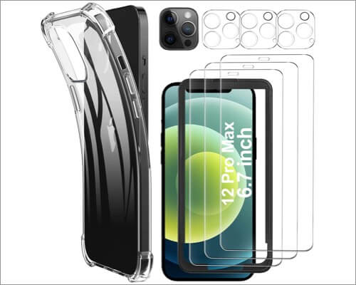 Luibor Glass Screen Protector for iPhone 12 Pro Max