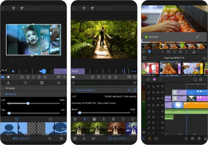 lumafusion video editor iphone and ipad app screenshot
