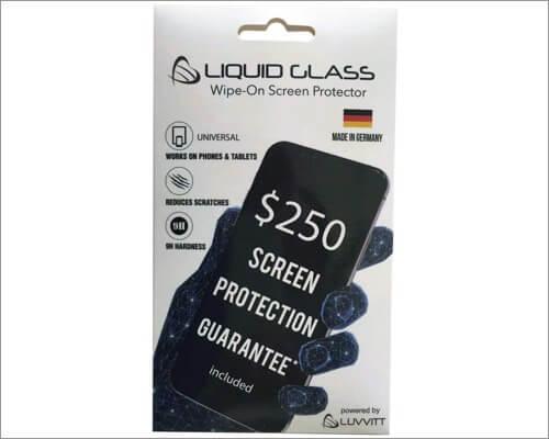 luvvitt liquid glass screen protector for iphone xr