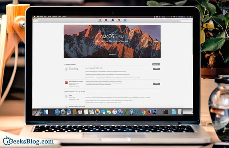 macOS Sierra Download Stuck on Waiting