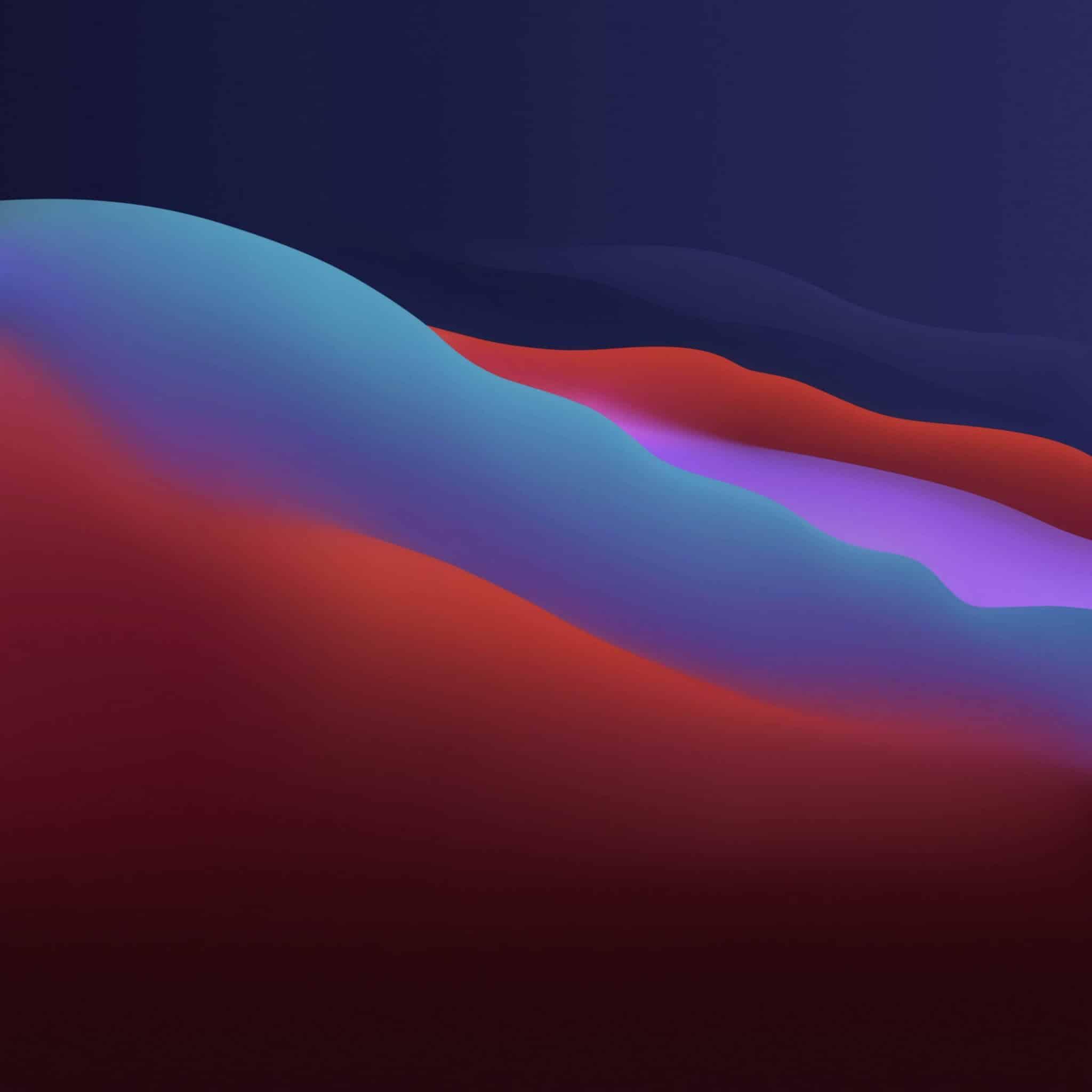 macos big sur vector wave dark wallpaper
