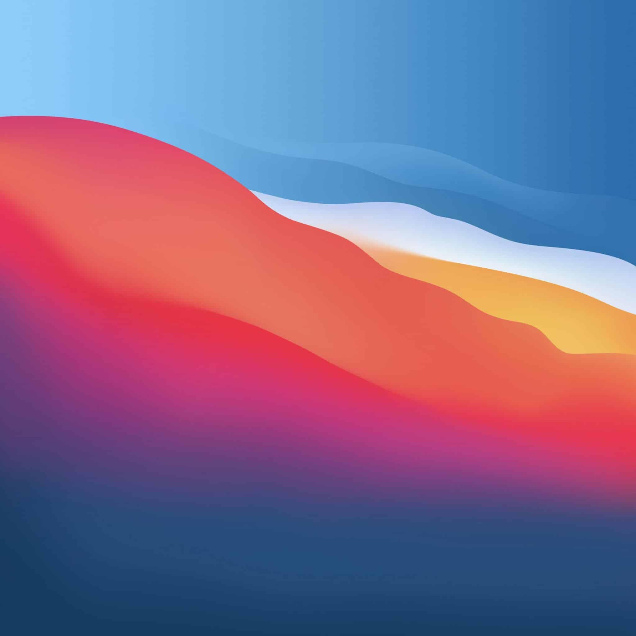 macos big sur vector wave light wallpaper