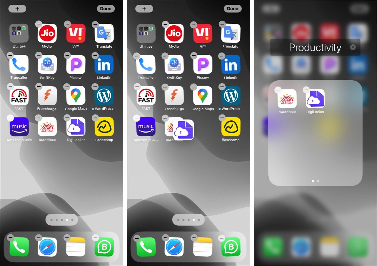 Make app folders on iPhone