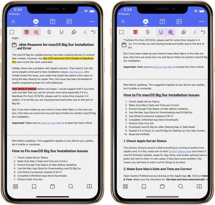 Make Strikethrough and Underline in PDf Using PDFelement Pro App