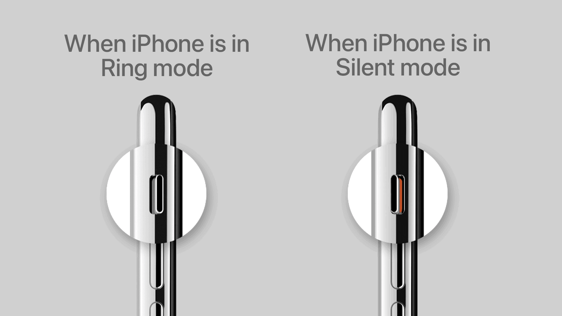 Make sure iPhone is not silent