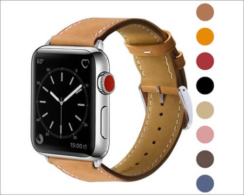 marge plus genuine leather replacement band for apple watch