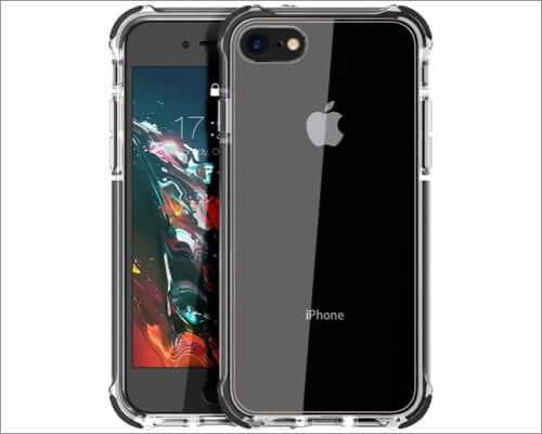 mateprox clear bumper case for iphone se 2nd gen
