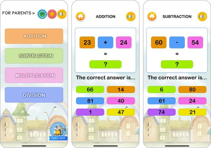math games learner for kids iphone and ipad app screenshot