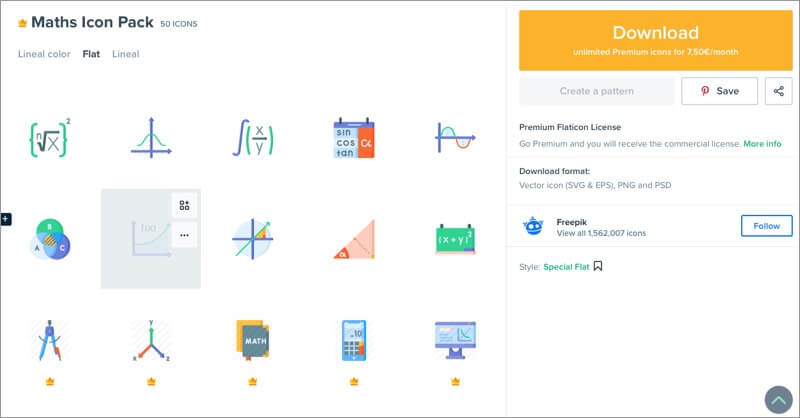 Mathe-Themen-Icon-Packs für iPhone und iPad