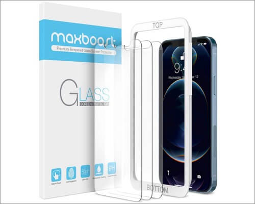 Maxboost glass screen protector iPhone 12 and 12 Pro