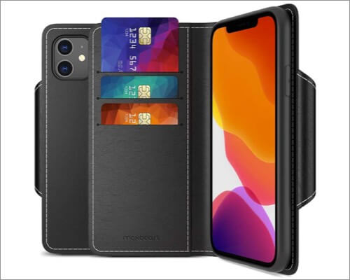 maxboost leather wallet case for iphone 11