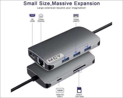 MCY 8-in-1 Type c Hub Adapter for MacBook