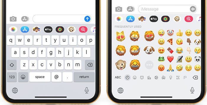 memoji on iphone and ipad keyboard