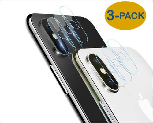 minkuke glass camera lens protector for iphone xs and xs max