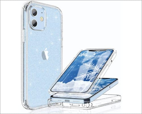 Miracase Glass Screen Protector with Case for iPhone 12 and 12 Pro
