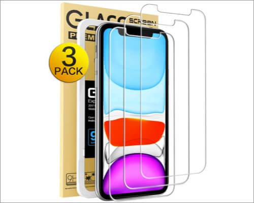 mkeke tempered glass screen protector for iphone xr