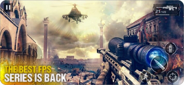 Modern Combat 5 iphone and ipad games
