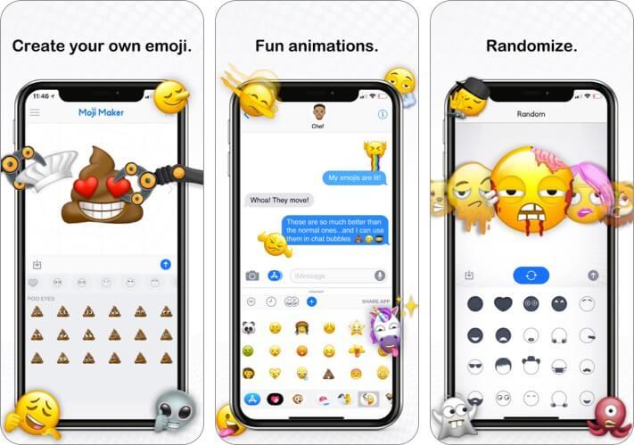 Moji Maker iPhone and iPad Emoji App Screenshot