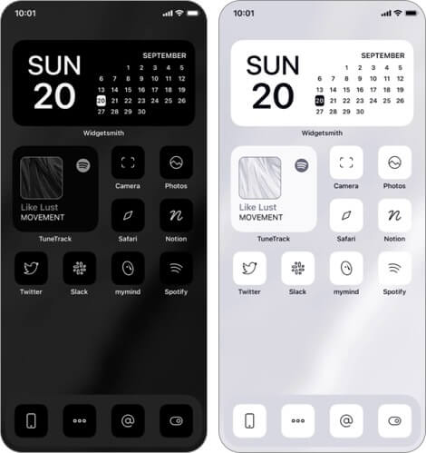 monochrome app icon sets for iphone and ipad
