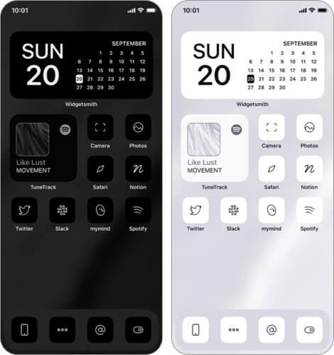 Monochrome App Icon Sets für iPhone und iPad