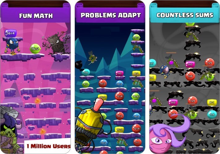 monster math for kids iphone and ipad app screenshot