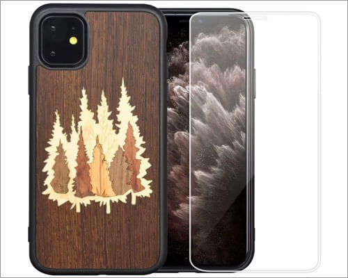 mr. artisan protective wooden case for iphone 11