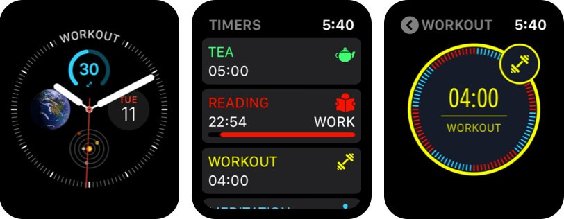 multitimer apple watch alarm app screenshot