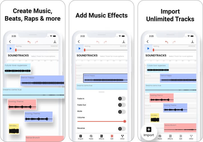 Music Editor: Beat Song Maker iPhone and iPad App Screenshot