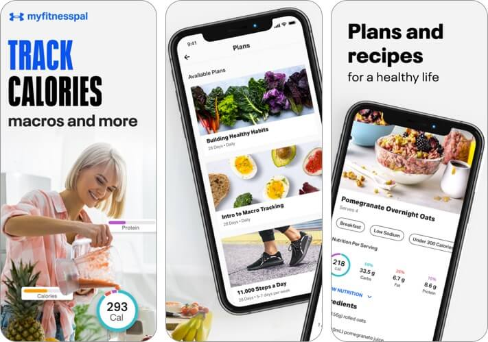 myfitnesspal iphone health app screenshot