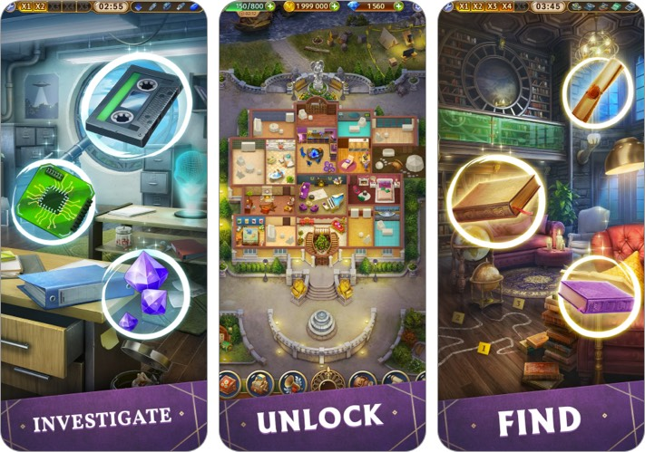 mystery manor hidden objects iphone and ipad game screenshot