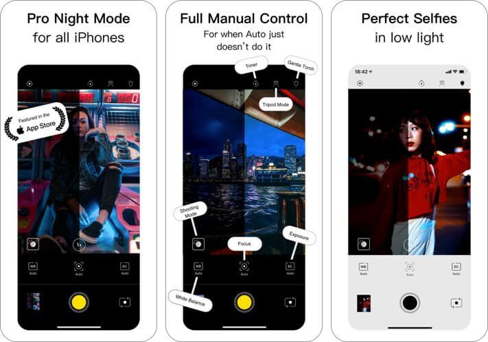neuralcam nightmode iphone camera app screenshot