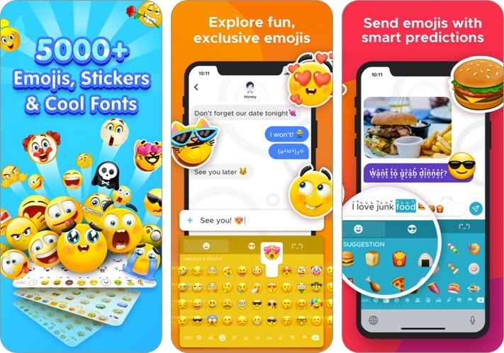 new emoji & fonts - rainbowkey iphone and ipad keyboard app screenshot