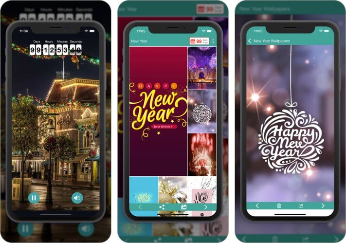 New Year HD Wallpapers iPhone and iPad App Screenshot