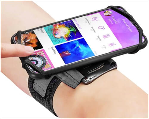 newppon 180 rotatable armband for iphone 11, 11 pro and 11 pro max