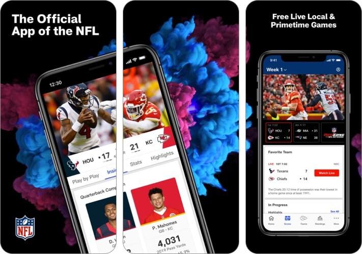 NFL iPhone and iPad Sports App Screenshot